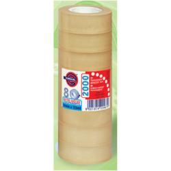 Nastro Eurocel - Pp 2000 nastro da imballaggio - 19 mm x 33 m - trasparente, miele 001092202
