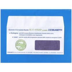 Busta Blasetti - Eco strip laser - busta - 110 x 230 mm - apertura laterale - bianco 0155