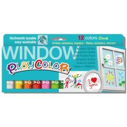 Tempera Maped - Playcolor window one - pennarello indelebile (pacchetto di 12) 02011