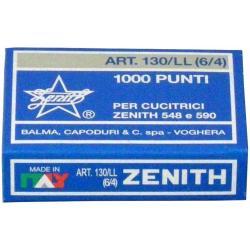 Zenith - 130/ll - punti metallici - 6/4 - pacco da 10000 0301306401