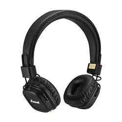 Marshall Major II - Casque avec micro - sur-oreille - sans fil - Bluetooth - noir