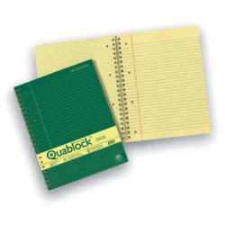 Blocco Pigna - Quablock Legal Spir. A4 R5 70FF 5pz