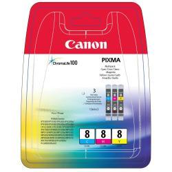 Serbatoio Canon - Cli-8 multipack - confezione da 3 - giallo, ciano, magenta - originale 0621b029