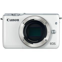 Appareil photo Canon EOS M10 - Appareil photo numérique - sans miroir - 18.0 MP - APS-C - 1080p / 30 pi/s - corps uniquement - Wi-Fi, NFC - blanc