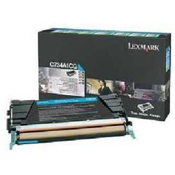 Toner Lexmark - Ciano - originale - cartuccia toner - lccp, lrp c734a1cg