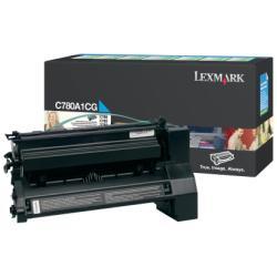 Toner Lexmark - Ciano - originale - cartuccia toner - lccp, lrp c780a1cg