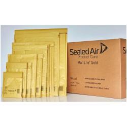 Busta Sealed air - Mail lite j/6 - busta postale - estremità aperta - oro - pacco da 10 103041284