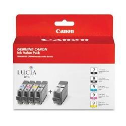 Cartuccia Canon - Pgi-9 pbk/c/m/y/gy multi-pack - confezione da 5 1034b013