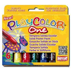 Tempera Maped - Playcolor - pennarello indelebile - colori assortiti (pacchetto di 6) 10711