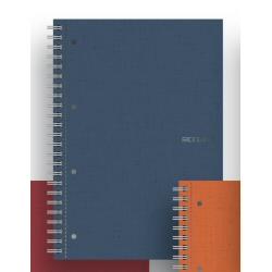 Quaderno Fabriano - Ecoqua A4 Spiral. 4 Fori 1R Blu Cf5