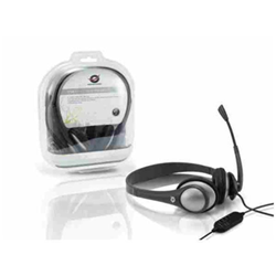 Conceptronic Lounge Collection CEASYSTARU USB Entry Level Headset - Casque - pleine taille - gris