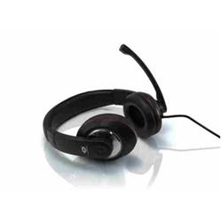 Conceptronic Lounge Collection CMUSICSTARR Professional Level Headset - Casque - pleine taille - noir, rouge