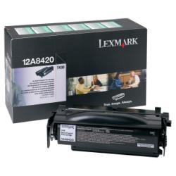 Toner Lexmark - Nero - originale - cartuccia toner - lrp 12a8420