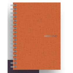 Quaderno Fabriano - Ecoqua A5 Spirl 1R Arancio Cf 5pz