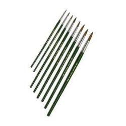 Pennello Pennello per dipingere rotondo formato: 0 (pacchetto di 12) 1557/0b