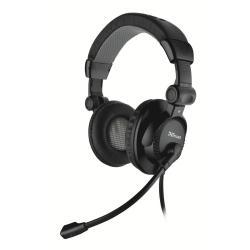 Casque Trust Como Headset - Casque - sur-oreille - noir