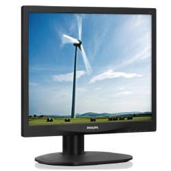 """Écran LED Philips S-line 17S4LSB - Écran LED - 17"""" - 1280 x 1024 - 250 cd/m² - 1000:1 - 5 ms - DVI-D, VGA - noir texturé avec socle noir"""