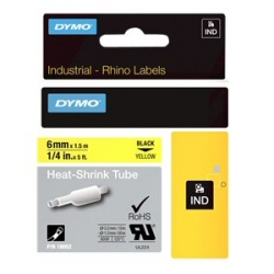 Nastro Dymo - Rhinopro heat shrink tubing - manicotti - rotolo (0,6 cm x 1,5 m) 18052