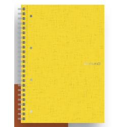 Quaderno Fabriano - Ecoqua A4 Spir. 4f. 10M Giallo Cf5p