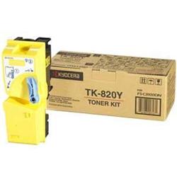 Toner KYOCERA - Tk 820y - giallo - originale - cartuccia toner 1t02hpaeu0