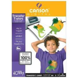 Carta Canson - T-shirt transfer - trasferibili a caldo - 5 fogli - a4 200987288