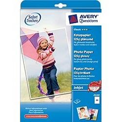 Carta fotografica Avery - Glossy photo paper - carta fotografica - 20 fogli - a4 - 125 g/m² 2554