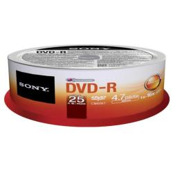 DVD Sony - Dmr-47 - dvd-r x 25 - 4.7 gb - supporti di memorizzazione 25dmr47sp