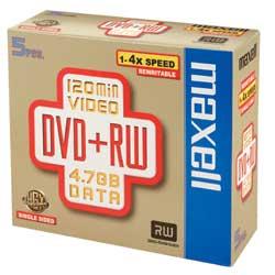 DVD-RW Maxell - Dvd+rw x 1 - 4.7 gb - supporti di memorizzazione 275526