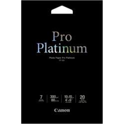 Carta fotografica Canon - Photo paper pro platinum - carta fotografica - 20 fogli - 100 x 150 mm 2768b013