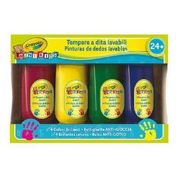 Tempera Crayola - Mini kids - colore a dita (pacchetto di 4) 3239