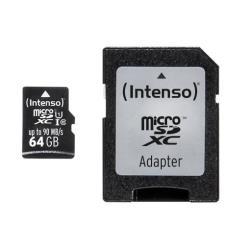 Micro SD Intenso - Scheda di memoria flash - 64 gb - uhs-i microsdxc 3433490