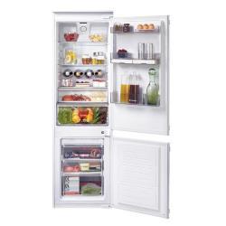 Réfrigérateur encastrable Candy CKBBF 172 - Réfrigérateur/congélateur - pose libre - largeur : 54 cm - profondeur : 54 cm - hauteur : 177 cm - 240 litres - congélateur bas - classe A+ - blanc