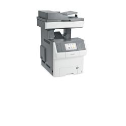 Imprimante laser multifonction Lexmark X746de - Imprimante multifonctions - couleur - laser - 216 x 355 mm (original) - A4/Legal (support) - jusqu'à 33 ppm (copie) - jusqu'à 33 ppm (impression) - 650 feuilles - 33.6 Kbits/s - USB 2.0, Gigabit LAN, hôte USB