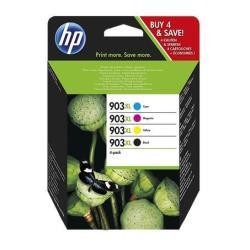 Cartuccia HP - 903xl - confezione da 4 - alta resa - nero, giallo, ciano, magenta 3hz51ae