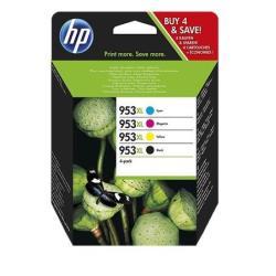 Cartuccia HP - 953xl - confezione da 4 - alta resa - nero, giallo, ciano, magenta 3hz52ae