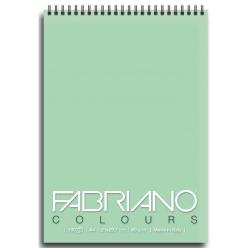 Blocco Fabriano - Colours A6 Notes Verde Confez.5pz