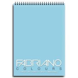 Blocco Fabriano - Colours A6 Notes Celeste Confez.5pz