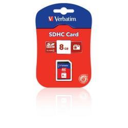 Secure Digital Verbatim - Scheda di memoria flash - 8 gb - sdhc 44018