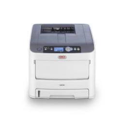 Imprimante laser OKI C610n - Imprimante - couleur - LED - A4 - 1200 x 600 ppp - jusqu'à 36 ppm (mono) / jusqu'à 34 ppm (couleur) - capacité : 400 feuilles - USB, LAN