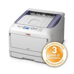 Imprimante laser OKI C822n - Imprimante - couleur - LED - A3 - 1200 x 600 ppp - jusqu'à 23 ppm (mono) / jusqu'à 23 ppm (couleur) - capacité : 400 feuilles - USB, LAN