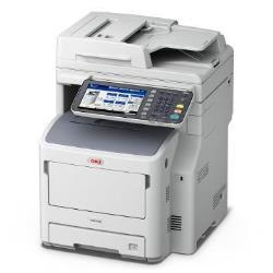 Imprimante laser multifonction OKI MB770dn - Imprimante multifonctions - Noir et blanc - LED - A4 (210 x 297 mm) (original) - A4 (support) - jusqu'à 52 ppm (copie) - jusqu'à 52 ppm (impression) - 630 feuilles - USB 2.0, Gigabit LAN, hôte USB