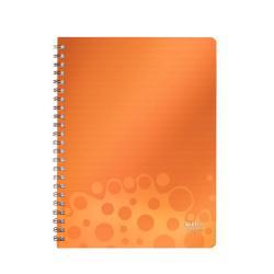 Blocco Leitz - Bebop A4 80ff Spir. Arancio Cf 6pz