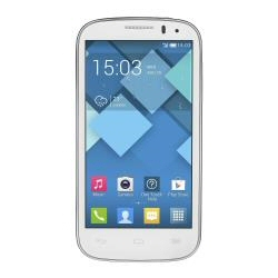 "Smartphone Alcatel One Touch POP C5 5036D - Smartphone - double SIM - 3G - 4 Go - microSDHC slot - GSM - 4.5"" - 480 x 854 pixels - TFT - 5 MP - Android - blanc uni"
