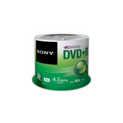 DVD Sony - DVD+R 4.7GB 16X 120M SPINDLE CF 50