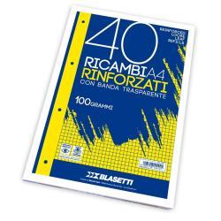 Ricambi Blasetti - RICAMBI A4 QUADRI 5MM 40FF 100GR