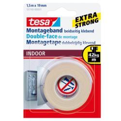 Nastro Tesa - Powerbond nastro biadesivo - 19 mm x 1.5 m - bianco 55740-00002-00