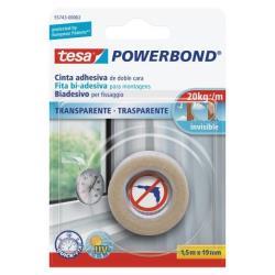 Nastro Tesa - Powerbond nastro biadesivo - 19 mm x 1.5 m - trasparente 55743-00002-02