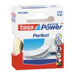 Nastro Tesa - Extra power perfect nastro in tessuto - 19 mm x 2.75 m - bianco 56341-00028-03