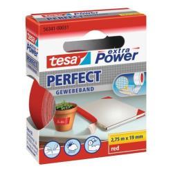 Nastro Tesa - Extra power perfect nastro in tessuto - 19 mm x 2.75 m - rosso 56341-00031-03