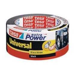 Nastro Tesa - Extra power universal nastro adesivo - 50 mm x 25 m - nero 56388-00001-07